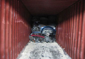 Auto Engines in Container