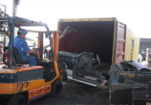 Cars for Part being put into container