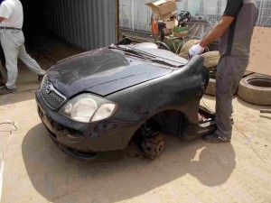 Toyota Corolla Fielder in Half Cut