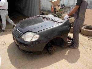 Toyota Corolla Fielder in Half Cut